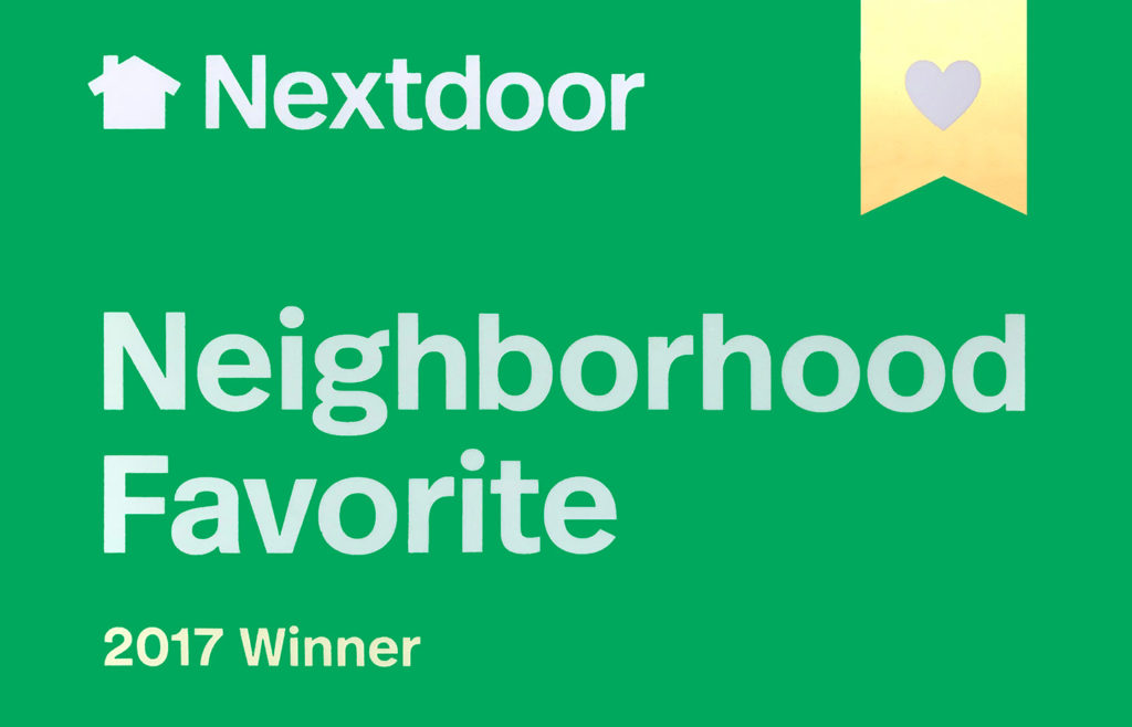 NextDoor 2017 Award presented to Northgate Dental Practice o