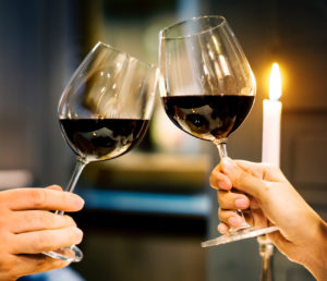 People Drinking Red Wine Which Can Stain Teeth
