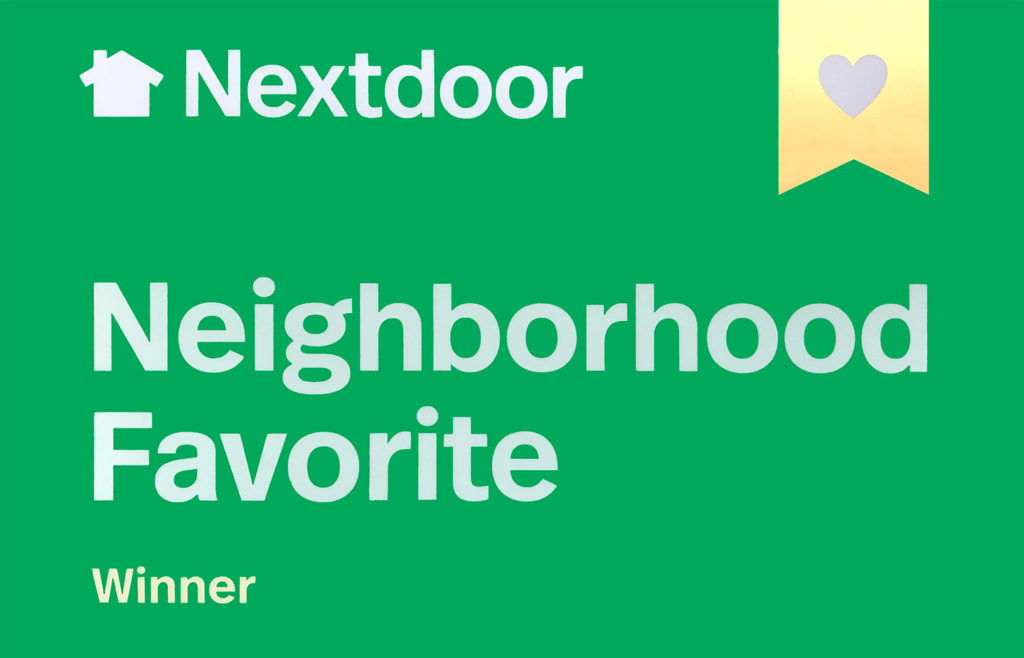 NextDoor Award presented to Northgate Dental the Practice of Catherine Cox DDS